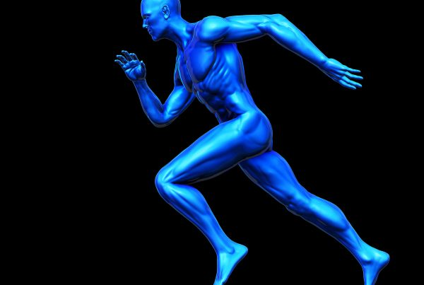 Healthy Athlete Blue Man